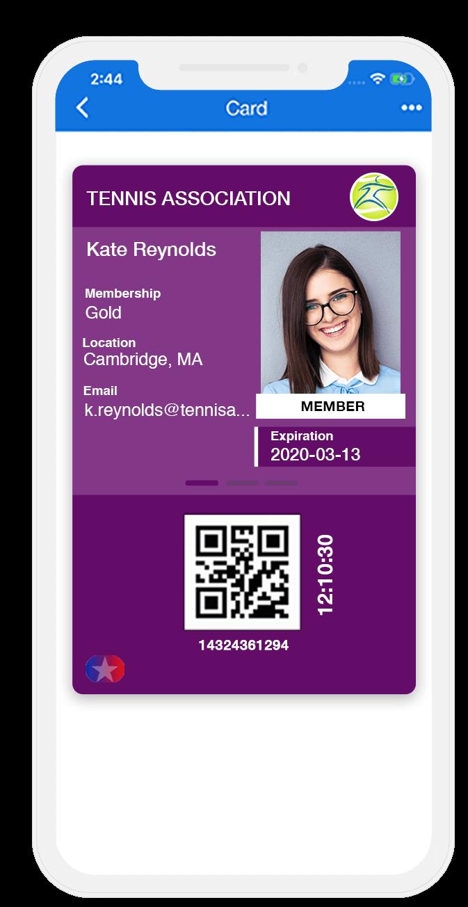 digital membership ID card